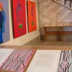 Tableaux de Claude Bellegarde - au premier plan livre d'artiste avec Jean Cortot