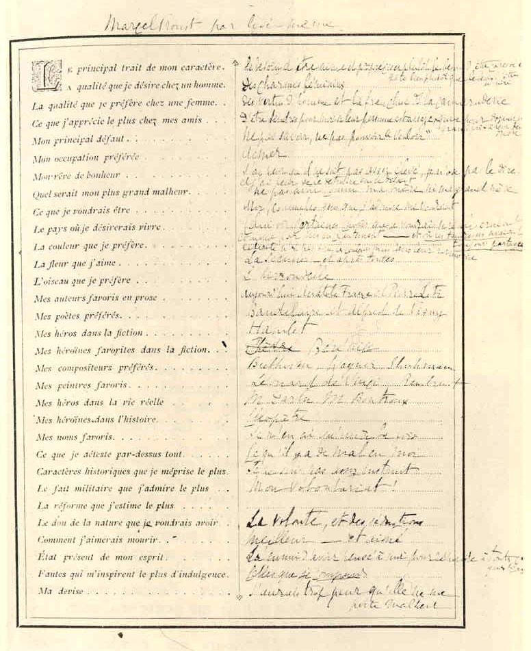 Top Questionnaire de Proust 05/02/15 Salah Stétié MD61